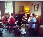 Patrick & Aaron Olwell and Friends playing live in the tasting room