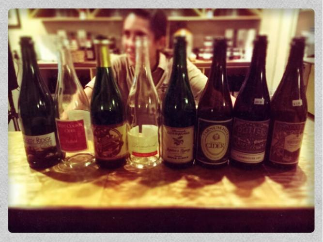 "Cider Week ""North vs South"" Smackdown tasting lineup"