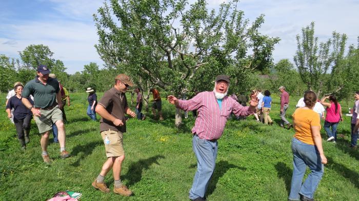 Wassailing the Rural Ridge orchard!