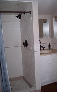 Both bathrooms have been updated with modern fixtures.